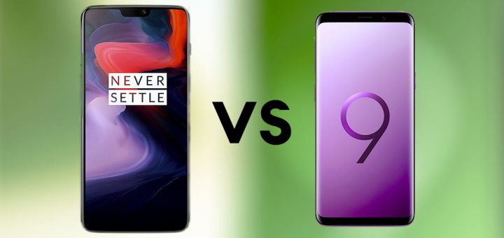 comparatif oneplus 6 vs samsung galaxy s9 phonedas.com