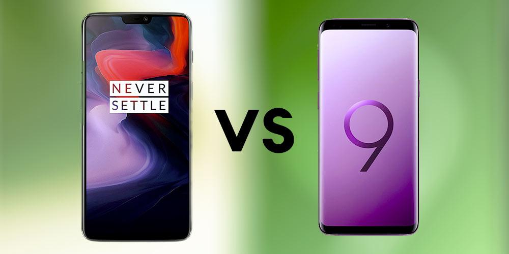 comparatif oneplus 6 vs samsung galaxy s9 phonedas.com