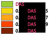 Echelle de couleurs phone DAS